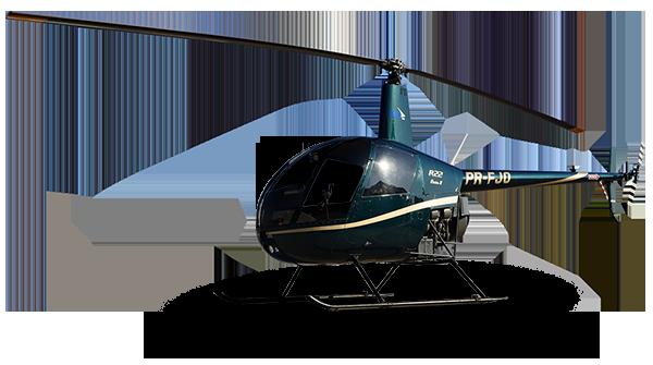 Helicóptero da escola de aviação civil